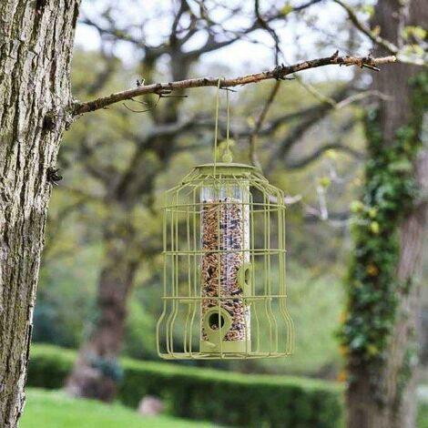 Smart Garden Squirrel Proof Wild Bird Seed Feeder Metal Steel