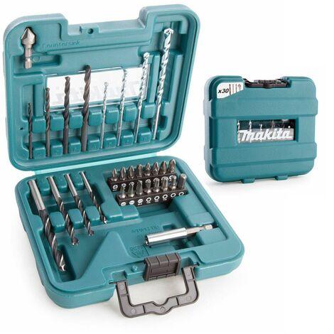 Makita D-47204 30 Piece Drill and Screwdriver Bit Set Masonry Wood Metal Drills
