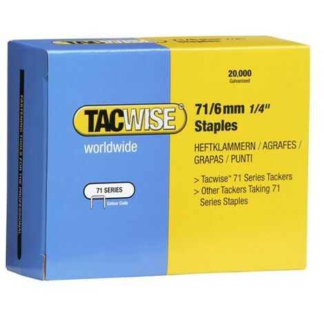 Tacwise 0367 Type 71 Box of 20,000 Staples 6mm 71 Series