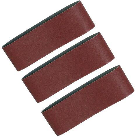 "5X Makita Coarse 100mm 610 4"" Belt Sander Sanding Belt 9401 9404 40 80 100 Grit"