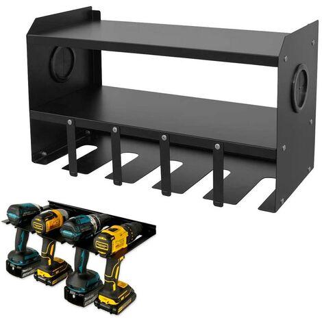 Universal Dewalt Makita Bosch Drill Impact Driver Wall Charging Rack Storage
