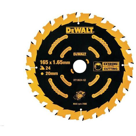 Dewalt DT10624 Circular Saw Blade 165 x 20mm x 24 Tooth Extreme Framing DCS391