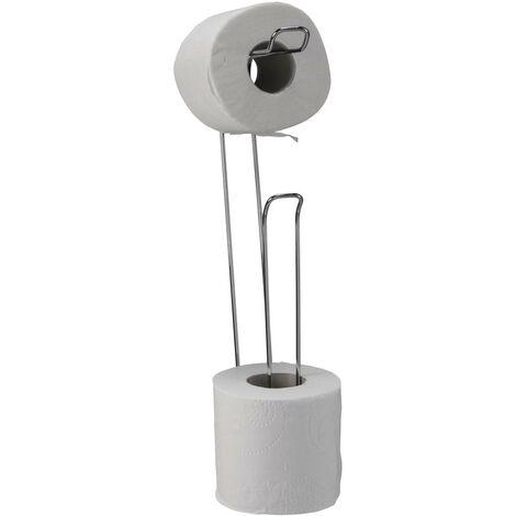 Croydex Wall Mounted Toilet Roll Holder Loo Roll Storage Chrome 4 Roll QM265241