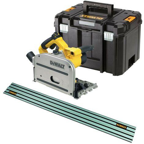 Dewalt DWS520KT Plunge Cut Circular Saw 165mm 110v + Case + 1 x 1.5m Guide Rail