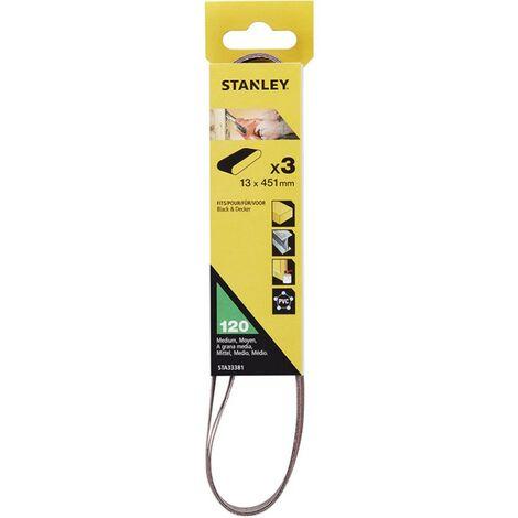 Stanley PowerFile Sanding Belts Fine 120g 451mm x 13mm KA290 KA900 STA33381-XJ