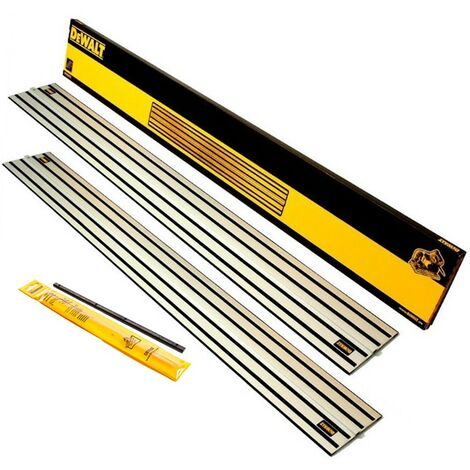 2 x DeWalt DWS5022 1.5m Guide Rail for DWS520 Plunge Saws & Connector