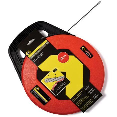 C.K Tools SpiraFLEX Cable Flex Draw Tape 20m Anti Snag Cable Router T5520