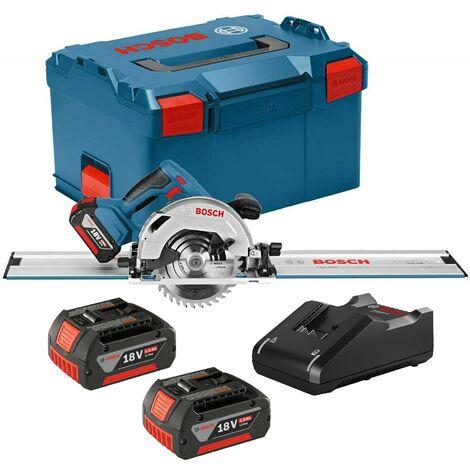 Bosch 18v GKS 18V-57 G 165mm Cordless Circular Saw 2 x 5.0ah + 1100mm Guide Rail