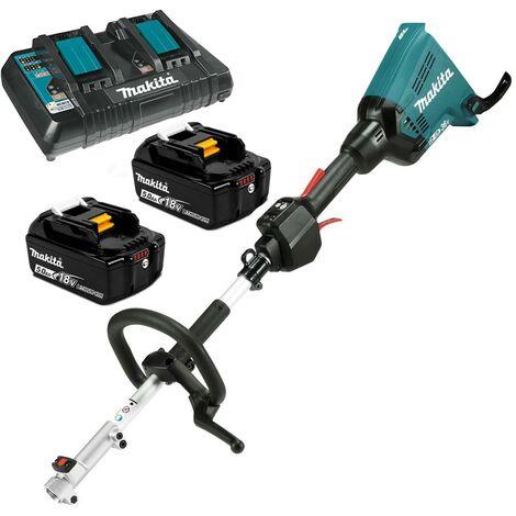 Makita DUX60PT2 Brushless Twin 18v 36v LXT Cordless Split Shaft Multi Tool 2x5ah