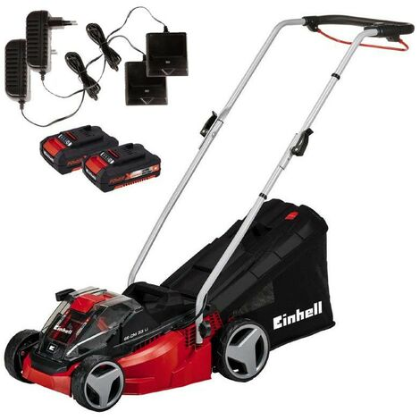 Einhell Power X Change GE CM33LI 36v Li Ion Cordless Lawn Mower 2x 18v Batteries
