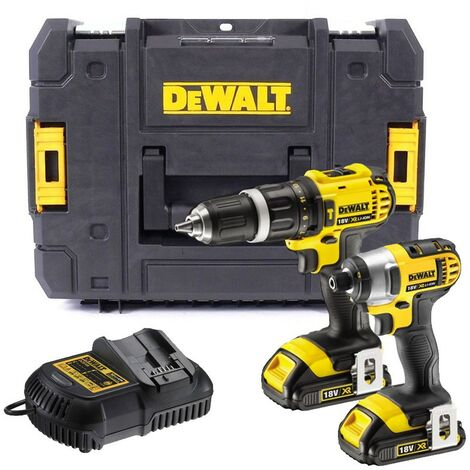 Dewalt DCK285D2 18v Lithium Twin Pack DCD785 Combi Drill DCF885 Impact Driver
