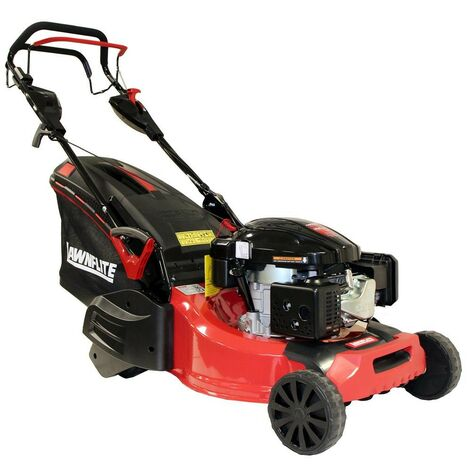 Lawnflite Rotary 48cm Petrol Lawn Mower Self Propelled Rear Roller Loncin Engine
