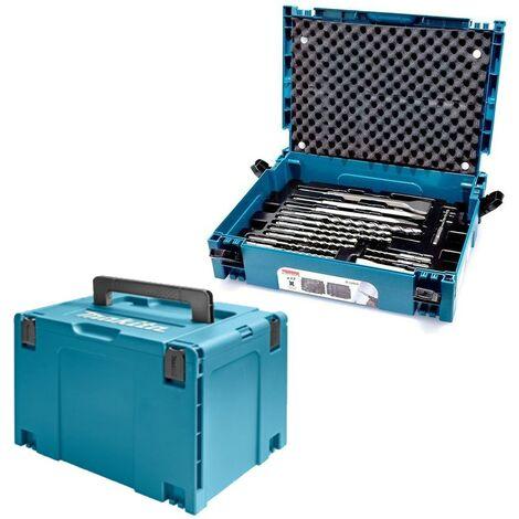 Makita 17 Piece SDS Plus Drill Bit + Bullet Cold Flat Chisel Set + Makpac 4 Case