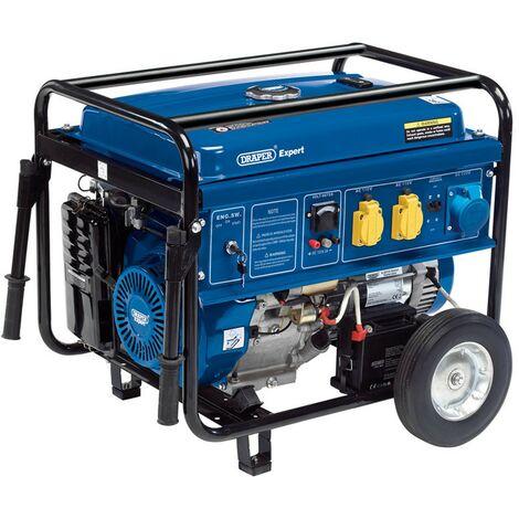 Draper Petrol Generator 6.5KVA / 6.0KW 15HP Petrol Engine on Wheels 16143