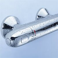 Grohe 1000 G1000 Thermostatic Bar Mixer Shower + Tempesta Riser Rail