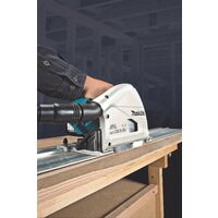 Makita DSP600ZJ 36v Twin 18v Brushless Plunge Cut Circular Saw 1x Guide Rail