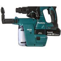 Makita DHR242Z 18v LXT SDS Rotary Hammer Drill + Bits Chisel Chuck + Makpac Case