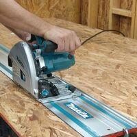 "2 x Makita Plunge Saw Guide Rail 1.0m 39"" For SP6000 SP6000K1 + Rail Connectors"