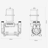 Salamander CTFORCE 20SU 2.0 Bar Brass Single Impeller Shower Pump Negative Head