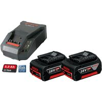 2 X Bosch 18v 5Ah Li-ion COOLPACK Batteries Lithium Ion + AL1860 Turbo Charger
