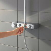 Grohe Euphoria SmartControl Shower System Cube Square 310 Duo Diverter Themostat