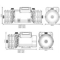 Salamander RP75TU 2.0 Bar Right Twin Impeller Shower Pump Negative Head & Mat
