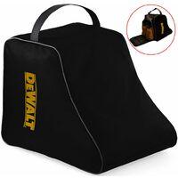 Dewalt Safety Boot Bag Work Boot Bag Black + Logo - Heavy Duty Zip Hard Base Bag