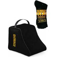 Dewalt Work Walking Safety Boot Bag and Dewalt Hydrosock Trade Work Socks