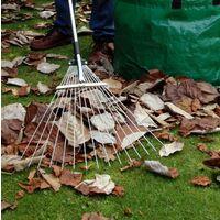 Darlac Expanding Telescopic Metal Garden Leaf Rake Cuttings Lawn Adjustable