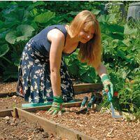 Draper Stainless Steel Soft Grip Hand Fork & Trowel & Weeder Garden Tool Set