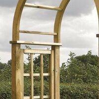 Rowlinson Wooden Round Top Garden Arch Pergola Plant Support