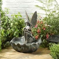 Smart Garden Solar Fairy Leaf Garden Water Feature Fountain Bird Bath 1170341