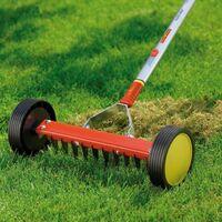 Wolf Garten Roller Moss Removal Rake URM3 Garden Multi Change & ZMI15 Handle