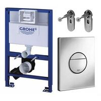Grohe 118599 Rapid SL 3 in 1 WC Set incl. 1.0m Concealed Frame Cistern Plate