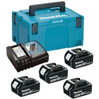 Makita BL1830 18v 4 x 3.0ah Lithium Batteries DC18RC Fast Charger + Makpac Case