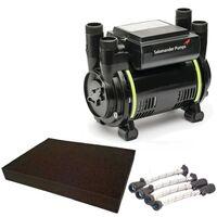 Salamander CT60B 1.8 Bar Bathroom Twin Impeller Shower Pump CT60 B Hoses + Mat
