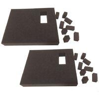 2x Inner Foam Insert Inlay for Makita MAKPAC Cases Drill Jigsaw Impact Driver