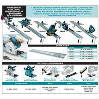 "2 x Makita Plunge Saw Guide Rail 1.5m 55"" For SP6000 SP6000K1 + Rail Connectors"