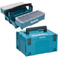 Makita P-84137 Stackable Cantilever Tool Box Organiser + Makpac Type 3 & Inlay