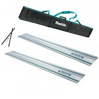 2x Makita 1.5m Guide Rail for SP6000 Plunge Saws + Carry Bag + Connector
