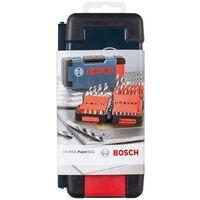 Bosch 18 Piece HSS Metal Wood Plastics Ground Drill Bit Set 1.0mm - 10mm + Case
