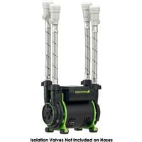 Salamander CT75+ XTRA 2.0 Bar Positive Twin Shower Pump +Iso Hoses CT75PLUS XTRA