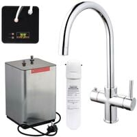 3 in 1 Instant Boiling Hot Water Kitchen Tap Curved Design Filter & Digital Tank