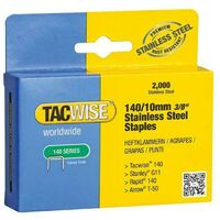 Tacwise 1217 Box of 2000 x 140 / 10mm Stainless Steel Staples
