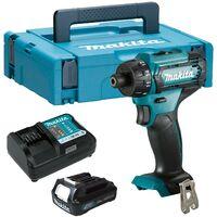 "Makita DF033DWAJ1 12V Max 10.8V CXT 1/4"" Hex Drill Driver Compact - 1 Battery"