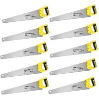 X10 Stanley Sharpcut Handsaw 22 Inch 550mm 11TPI STA120372 1-20-372 STHT20372-1