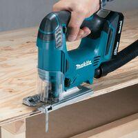 Makita 18v Cordless Combi Hammer Drill Driver & Jigsaw Twin Pack + 74 piece Set