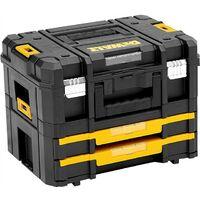 Dewalt TStak Combo II + IV Power Tool Storage Box + Drawer Case 2 Shallow Draws