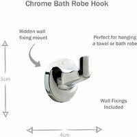 Chrome Bathroom Accessories Set 6pc - Toothbrush Soap Dish Towel Ring + Rail +++