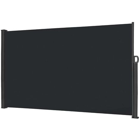 Toldo de pantalla corredera lateral enrollable 180X300Cm. Cuerpo fabricado íntegramente en aluminio.
